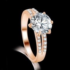 HN-1 piece/Set New Alloy luxury love Necklace accessories18K diamond Wedding Rings Women Men Gift rose gold 6