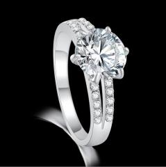 HN-1 piece/Set New Alloy luxury love Necklace accessories18K diamond Wedding Rings Women Men Gift silver 8