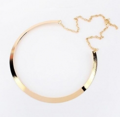 HN-1 Piece/Set New Sweater chain Alloy Necklaces Pendant Women And Men Jewellery Gift gold as picture