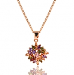 HN-1 piece/Set New Dazzle color necklace big character metal chain Jewellery gold as picture