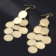 HN-1 Pair/Set New Fashion Exaggeration wafer Earrings Stud Earrings For Women Jewellery Gift gold as picture