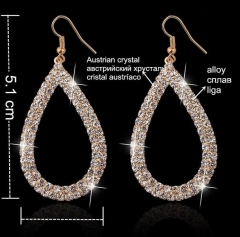 HN-1 Pair/Set New Fashion Hollow drill luxury Stud Drop Earrings For Women Jewellery Gift gold as picture