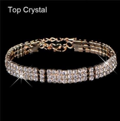 HN-1 Piece/Set New Colorful Diamond drill style Bracelets Bangles Women Men Jewellery gold as picture