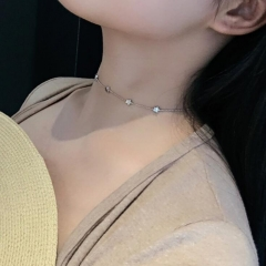 HN-1 piece/Set New Fashion small bead even more stars Necklace Pendant Women Jewellery gold as picture