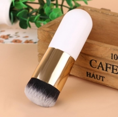 HN-1 piece/Set New Fashion Foundation brush BB brush and cosmetic brush Women Makeup bags Gifts White+gold
