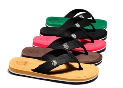 HN Brand Men's beach slippers summer Trendy flip-flops camel 40