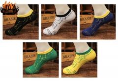 HN Brand 1 Pair/Set  New Fashion Socks For Men Pure Cotton Socks Breathable man black telescopic elastic
