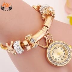HN Brand 1Pcs/Set New Ladies gem  pentagram Heart  tortoise Bracelet Watch For Women Jewellery Gift white