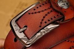 Fashion PU & Cowskinb Belts For Men Metal pin Buckle Belt black 110cm