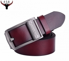 Belts For Men Fashion Able Wild Pure Leather Belt Durable Classic Casual Business Luxury Jeans leather belt brown 115cm