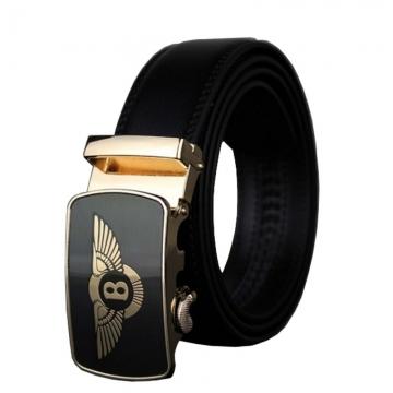 Brand Business Genuine Leather Belt Metal Automatic Buckle Men Belt Luxury Men Belts black 110cm