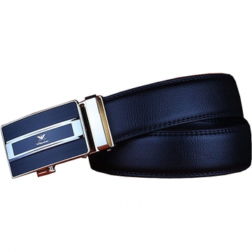 Genuine Leather Belt For Men Business Alloy Automatic Buckle Luxury Brand Belt leather belt black 110cm
