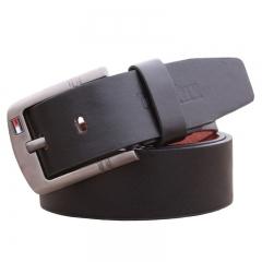 Hot Sale Men Belt For Luxury Brand Pin Buckle Strap Vintage Jeans Cowboy Waistband leather belt black 110cm