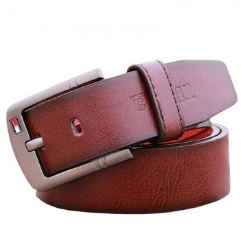 Hot Sale Men Belt For Luxury Brand Pin Buckle Strap Vintage Jeans Cowboy Waistband leather belt white 110cm