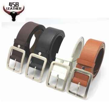 Genuine Leather Belt For Man Male Pin Buckle  Cowskin Strap High Quality luxury leather belt brown 110cm