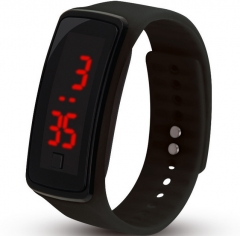 LED Digital Bracelet Watch for Students Boys Girls Electronic Watch white black one size