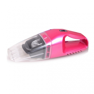 Car power portable vacuum cleaner Dry and wet dust collector-Pink