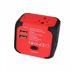 UK/US/UR Standard Plug Travel universal Wall Charge Socket Power Adapter UK PLUG red one size