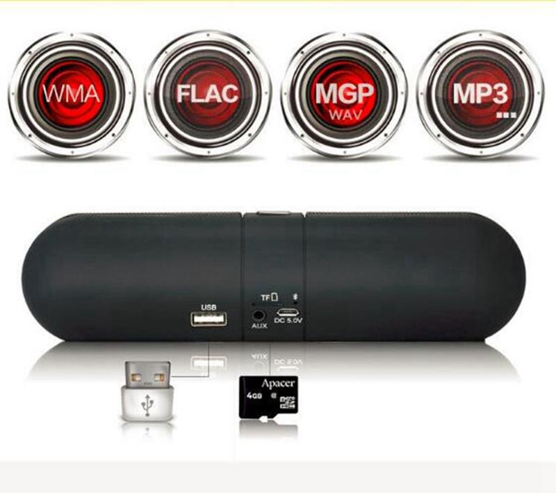 Kill Price-Portable Capsule Wireless Stereo HIFI Bluetooth Speaker black one size 4