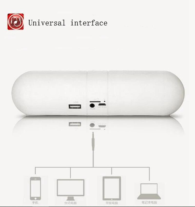 Kill Price-Portable Capsule Wireless Stereo HIFI Bluetooth Speaker black one size 5