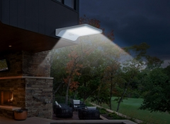 Solar Powered Light Motion Sensor Outdoor Wall Security Light with 3 Lighting Modes White Black 17 3