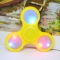 Fidget Spinner Toy for Stress Reducer Relieves ADHD Anxiety LED Edition Yellow One size