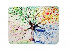 Doormat Four Seasons Spring Tree of Life Spring Summer Fall Winter as picture show 23.6