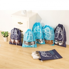 Pack of 10 Dust-proof Breathable Shoe Organizer Bags Travel Luggage Packing for Shoe Accessories Blue