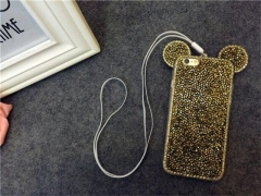 Fashionable  TechJumbo Extremely Sparkly bling iphone case for iphone6, 6S,6/6S plus, 7, 7 plus gold 6