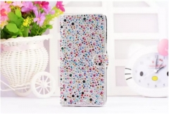 Fashionable Luxury TechJumbo Sparkly iphone wallet case cover for iphone6, 6plus, 7, 7 plus silver 7+