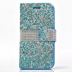 Luxury TechJumbo Sparkly Wallet Case Cover for Samsung S7 blue S7