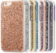 Techjumbo Luxury Covers Sparkly Beading Phone Cases 2-in-1 Case for iphone6, 6plus, 7, 7 plus champagne gold 7+