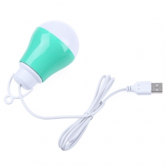 USB Powered 5W 10 LEDs Bulb Outdoor Portable Hook Light green 6x6x10 5W