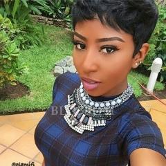 Short Human Hair Wigs For Black Women Brazilian Virgin Hair None Lace Wig Human Hair Bob Wigs #1b average