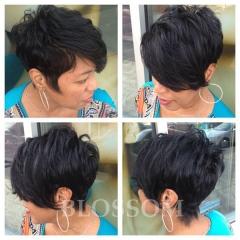 None Lace Brazilian Straight Hair Short Black Glueless Human Hair Wigs For Black Women #1b average
