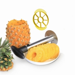 Stainless Steel Pineapple Slicer Corer Cutter Peeler Fruit Cutting Slicing Coring Knife As Picture One Size