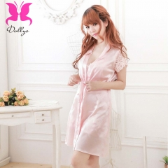 Pink lady home clothing sleeping wear set in polyester pink free size
