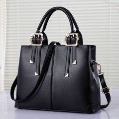 Women's Roma Handbag large size Lady elegant fashion big OL style shoulder bag black 33cm*13.5cm*26cm