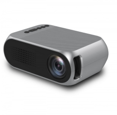 LED 1080P HD Projector for Home Office Outdoor(grey)