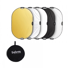 Reflector Photography 60x90cm 5 in1 Light Mulit Collapsible Photo Reflector Disc + Handles as picture one size