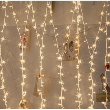 Warm White 10M 100LED Christmas Wedding Xmas Party Decor Fairy String Light Lamp as picture one size