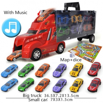 Boys toys model container truck simulation toy car  alloy car toys for kids girls boys With Music one packing size