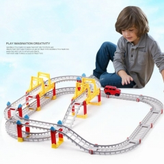 Toys for kids DIY electric assembly city rail car boys toys for children random one size