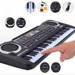61 key Multi-function kids electronic keyboard with microphone early childhood education toys random one size