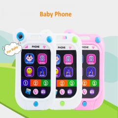 Children toys stop crying phone touch screen music toys phone for baby random one size