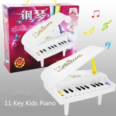 Portable 11 Keys plastic MIDI Keyboard Piano toys for kids Electronic Roll baby toys random one size