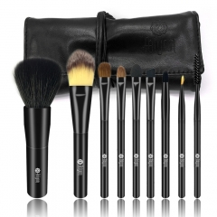 9 Pcs Makeup Brushes Set with Black Pouch Bag Acrylic set brushes as photo