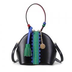 2017 PU leather  women crossbody shell bag Fashion  ladies shoulder bag Christmas gift Black 15*9*15cm