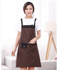 2 Pack Unisex Adjustable Bib Apron Waterproof with Cooking Kitchen Aprons for Home Kitchen a set size