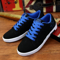 2017 new mens Casual Shoes canvas shoes for men Lace-up Breathable fashion summer autumn Flats shoes black and blue 43